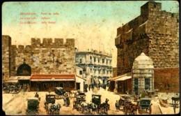 CPA PALESTINE JERUSALEM ILLUSTREE PORTE DE JAFFA COLORISEE ANDRE TERGIS & FILS BEYROUTH JERUSALEM - Palestine