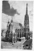 (RECTO / VERSO) WIEN EN 1955 - STEPHANSDOM - BEAU TIMBRE - FORMAT CPA VOYAGEE - Églises