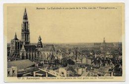 (RECTO / VERSO) ANVERS EN 1936 - LA CATHEDRALE - BELLE FLAMME POSTE AERIENNE - FORMAT CPA VOYAGEE - Antwerpen