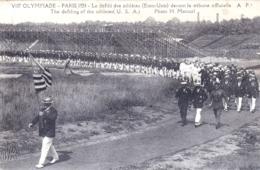 PARIS 1924 - VIII Olympiade -jeux Olympiques  Le Défilé Des Athletes Des Etats Unis - The Defiling Of The Athletes U S A - Juegos Olímpicos