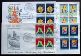 Denmark 1996  FDC  MiNr. 1116-1119 Copenhagen - European Capital Of Culture In 1996 Sights ( Lot Ks )The Little Mermaid - FDC