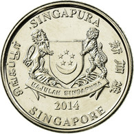 Monnaie, Singapour, 20 Cents, 2014, TTB, Copper-nickel - Singapore