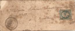LOIRE-INFERIEURE (42) LAC De  MEILLERAIE-DE-BRETAGNE (PERLE) OBLI  PC 1951  Sur NAP Pour NANTES - Marcophilie (Lettres)