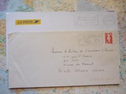 2 Flammes D'oblitération Mécaniques Différentes De L'Oise Sur Lettres Entières 1991-1999 - Marcophilie (Lettres)