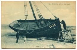 CPA - Carte Postale - Belgique - Blankenberge - La Toilette D'une Barque - 1924 (D10214) - Blankenberge