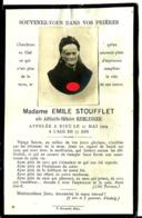 Faire-part Décès Mme Emile Stoufflet Remlinger  Fontoy 17/9 - Décès