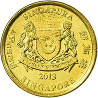 Monnaie, Singapour, 5 Cents, 2013, TTB, Aluminum-Bronze - Singapour