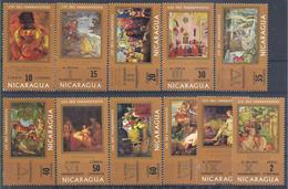 1971 NICARAGUA 920-28+ PA 730-31 ** Tableaux, Degas, Rembrandt - Nicaragua