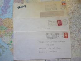 3 Flammes D'oblitération Mécaniques Différentes De Seine Saint-Denis Sur Lettres Entières 1966-1994 - Marcophilie (Lettres)