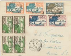 Noumea 1934 Seegelboot Lagune Pazifik RF - Briefe U. Dokumente