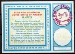 UNITED NATIONS UNIES NEW YORK Vi20 22 CENTS Int. Reply Coupon Reponse Antwortschein IRC O D1 2.12.71 - Cartas