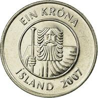 Monnaie, Iceland, Krona, 2007, TTB, Nickel Plated Steel, KM:27A - Island