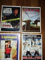 4 Fiches Ciné Avec Nombreux Autographes (8) NO COPY - Autogramme & Autographen