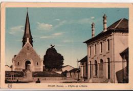 SOUAIN-L'EGLISE ET LA MAIRIE - Souain-Perthes-lès-Hurlus