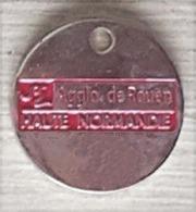 Jeton De Caddie  Ville, Département  Agglo  De  ROUEN  HAUTE  NORMANDIE  Verso  45  COMMUNES  ( 76 ) - Trolley Token/Shopping Trolley Chip