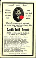 Faire-part Décès Camille Adolph Trendel Fentsch  17/19 - Décès
