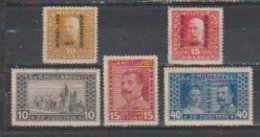 Bosnie-Herzegovine  1917  N° 115  / 19  Neuf X Série Compléte - Bosnië En Herzegovina