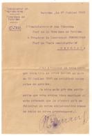 1920 LETTRE ADMINISTRATEUR DES COLONIES A CHEF DU POSTE ADMINISTRATIF DE BEFOTAKA MAGAGASCAR B1091 - Documents