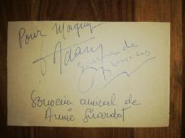 3 Autographes Sur Fiche 10/15 NO COPY - Autógrafos