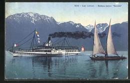 AK Binnenschiff Savoie Auf Dem Genfersee - Non Classés