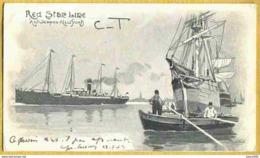 1903 NEW YORK - Carte RED STAR LINE  Illustrateur H. CASSIERS - Paquebots