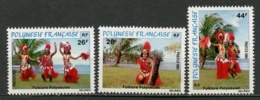 Polynésie Française - Polynesien - Polynesia 1981 Y&T N°165 à 167 - Michel N°330 à 332 *** - Folklore Polynésien - Polynésie Française