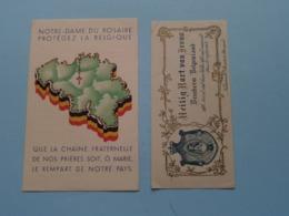 Notre-Dame Du Rosaire > Protégez La Belgique / Heilig Hart Van Jesus > Bescherm BELGENLAND ( 2 Pcs. / Zie Foto's ) ! - Religion & Esotérisme