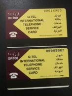 Qatar Telephone Card Two Different Types - Qatar
