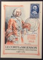 CM407-1 Paris Journée Du Timbre 14/3/1953 Carte Maximum 940 - Cartas Máxima