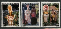Polynésie Française - Polynesien - Polynesia 1982 Y&T N°181 à 183 - Michel N°353 à 355 *** - Folklore Polynésien - Polynésie Française