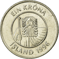 Monnaie, Iceland, Krona, 1996, TTB, Nickel Plated Steel, KM:27A - Islande