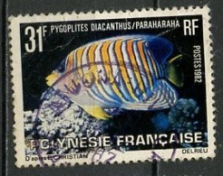 Polynésie Française - Polynesien - Polynesia 1982 Y&T N°175 - Michel N°340 (o) - 31f Pygoplites Diacanthus - Oblitérés
