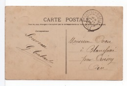CPA - CACHET : CROISSY -S-CELLE (OISE) Sur CPA Dijon - Poststempel (Briefe)