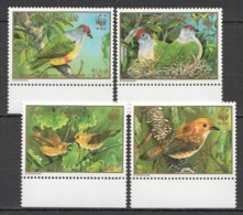 M1221 1989 COOK ISLANDS WWF FAUNA BIRDS GOLD 1SET !!! MICHEL 15 EURO !!! MNH - W.W.F.