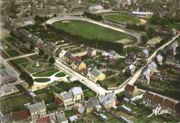 EQUEURDREVILLE - Carte Aérienne Sur PLACE Mars Et STADE Jaures - Equeurdreville