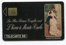 Telecarte °_ Monaco-6-Danse-A.Renoir-numérotée 0823-So3-04.91- R/V 3766 - Mónaco