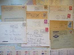 Lot De 10 Flammes D'oblitération Mécanique Différentes De Seine Saint-Denis Sur Lettres Entières 1965-1974 - Marcophilie (Lettres)