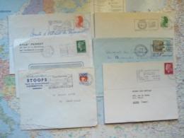 Lot De 6 Flammes D'oblitération Mécanique Différentes Des Hauts De Seine Sur Lettres Entières 1966-1987 - Marcophilie (Lettres)