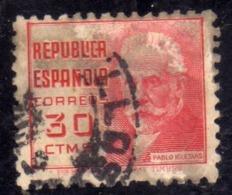 SPAIN ESPAÑA SPAGNA 1936 1938 PABLO IGLESIAS CENT. 30c USED USATO OBLITERE' - 1931-50 Gebraucht