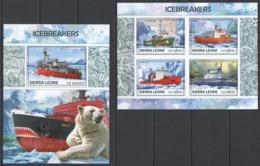 RR425 2017 SIERRA LEONE TRANSPORT SHIPS ICEBREAKERS KB+BL MNH - Schiffe