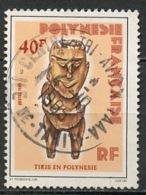 Polynésie Française - Polynesien - Polynesia 1985 Y&T N°229 - Michel N°420 (o) - 40f Statuette De Bois - Oblitérés