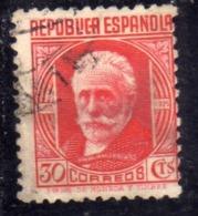 SPAIN ESPAÑA SPAGNA 1931 1932 PABLO IGLESIAS CENT. 30c USED USATO OBLITERE' - 1931-Aujourd'hui: II. République - ....Juan Carlos I