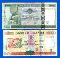 Ouganda  2  Billets - Uganda