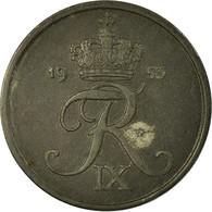 Monnaie, Danemark, Frederik IX, 2 Öre, 1953, Copenhagen, TB+, Zinc, KM:840.1 - Dänemark