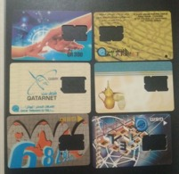 Qatar Telephone Card Old 6 Different Without Sim - Qatar