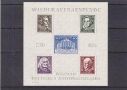Allemagne - Zone Soviétique - Yvert BF 3 ( * ) - Thuringe - Papier Blanc -Goethe-Schiller-Liszt-Wieland-valeur 25 € - Zone Soviétique