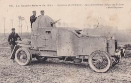 AUTO MITRAILLEUSE BELGE SUR LE FRONT - Equipment