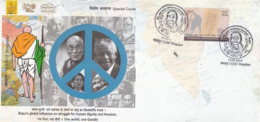 India  2019  Mahatma Gandhi  Dalai Lama  Nelson Mandela  Ong San Su Ki  Special Cover  # 23359 D  D Inde  Indien - Mahatma Gandhi
