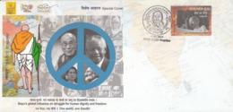 India  2019  Gandhi  Dalai Lama  Nelson Mandela  Ong San Su Ki  Nobel Laureates  Special Cover  # 23360 D  Inde  Indien - Nobel Prize Laureates