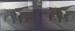 BISTRITA, Transylvania : Vers La Gare, Début XXe. Plaque Verre Stéréoscopique, Négatif. Transylvanie - Plaques De Verre